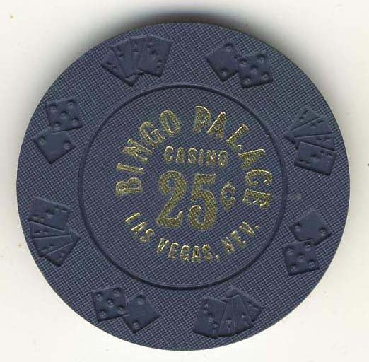 Bingo Palace Casino 25 cent (navy 1977) Chip - Spinettis Gaming - 1