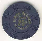 Bingo Palace Casino 25 cent (navy 1977) Chip - Spinettis Gaming - 2