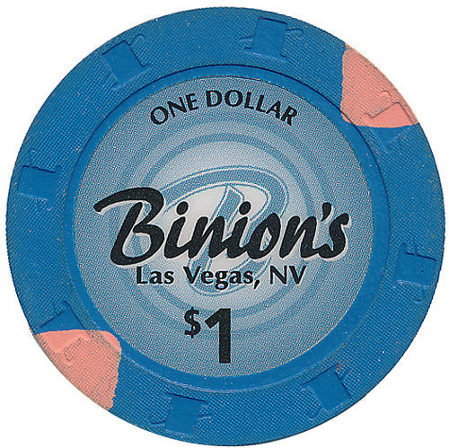 Binion's, Las Vegas NV $1 Casino Chip Large Inlay