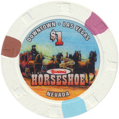 Binion's Horseshoe Casino Las Vegas NV $1 Chip 2004 Stagecoach