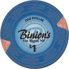 Binion's, Las Vegas NV $1 Casino Chip Small Inlay - Spinettis Gaming