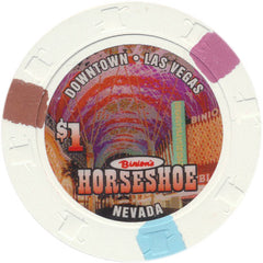 Binion's Horseshoe Casino Las Vegas NV $1 Chip 2004 Fremont