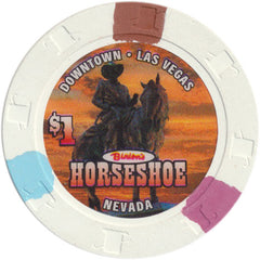 Binion's Horseshoe Casino Las Vegas NV $1 Chip 2004 Benny on Horse