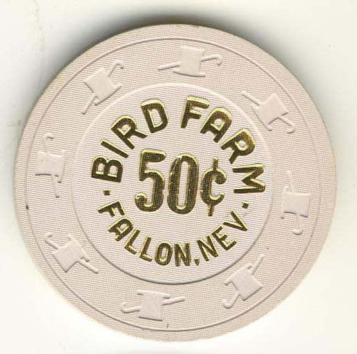 Bird Farm Casino 50cent (beige 1988) Chip - Spinettis Gaming