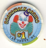 Boardwalk Casino $1 (white 1998) Chip - Spinettis Gaming - 1