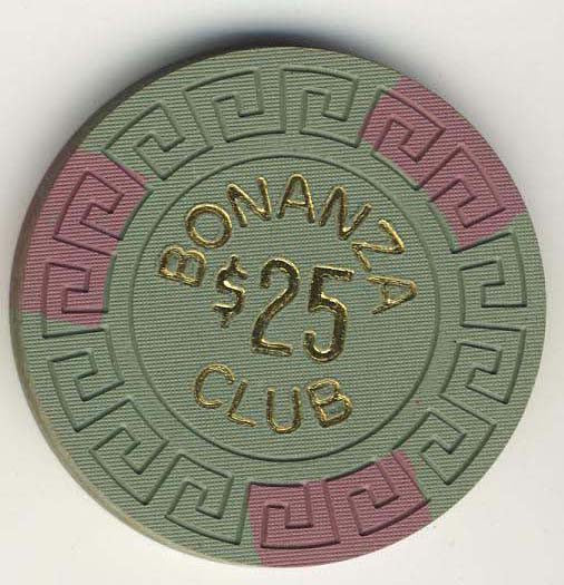 Bonanza Club Stateline $25 Chip - Spinettis Gaming - 1