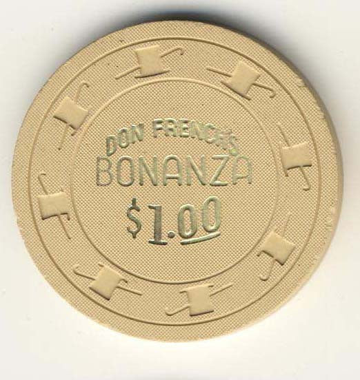 Bonanza, Don French's Casino $1 Beige Chip