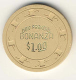 Bonanza, Don French's Casino $1 Beige Chip - Spinettis Gaming - 1
