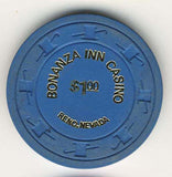 Bonanza Inn Casino $1 (blue1973) Chip - Spinettis Gaming - 2
