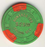 Bonanza Inn Fallon $25 ( green 1976) Chip - Spinettis Gaming - 2