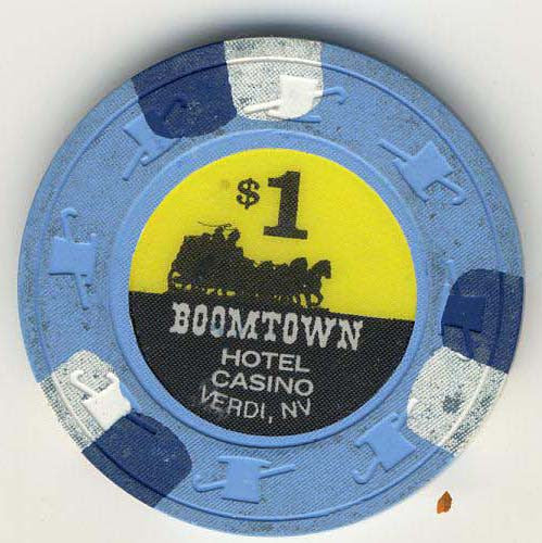 Boomtown Casino $1 (blue 1997) Chip - Spinettis Gaming - 1