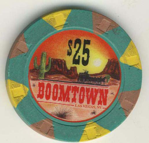 Boomtown Casino $25 (green 1994) Chip - Spinettis Gaming - 1