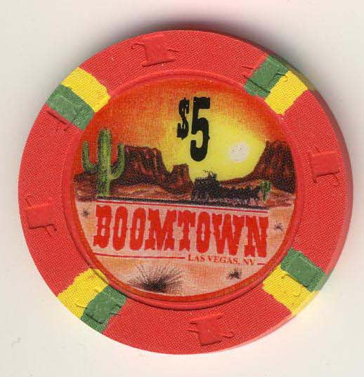 Boomtown Casino $5 (red 1994) Chip - Spinettis Gaming - 1