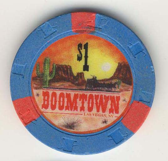 Boomtown $1 (blue 1994) Chip - Spinettis Gaming - 1