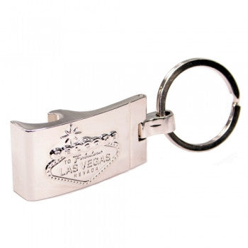 Key Chain Las Vegas Key Chain With Bottle Opener Chrome