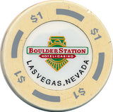 Boulder Station, Las Vegas NV $1 Casino Chip - Spinettis Gaming - 2