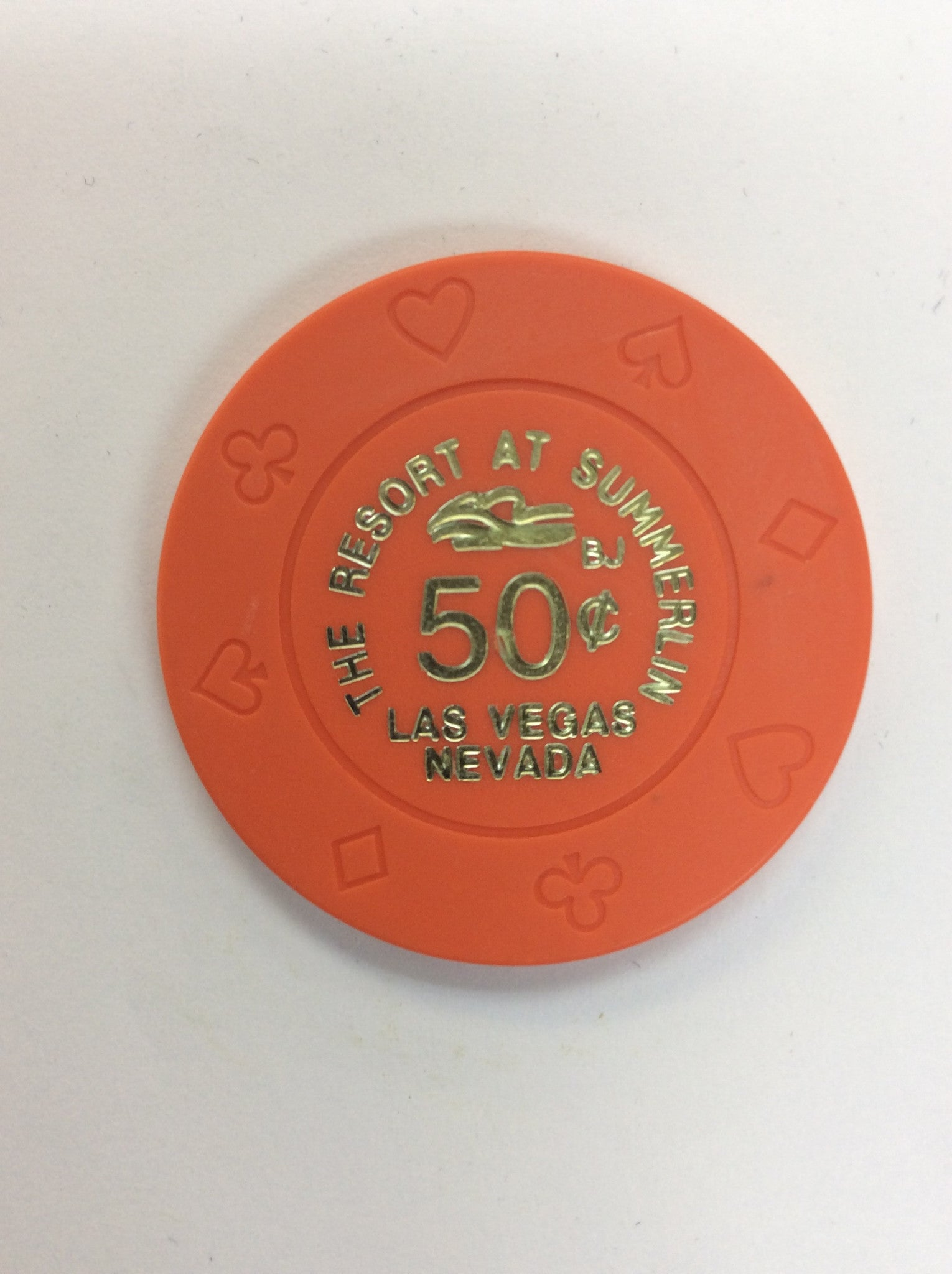 The Resort At Summerlin 50cent (orange) chip - Spinettis Gaming