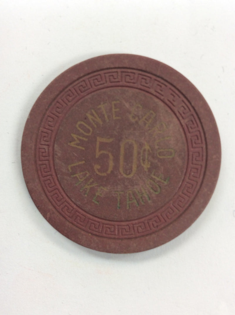 MONTE CARLO LAKE TAHOE 50cent chip - Spinettis Gaming