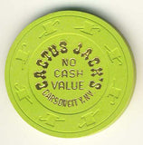 Cactus Jacks Casino no cash value (green 1980s) Chip - Spinettis Gaming - 1
