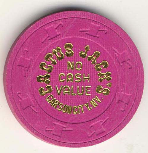 Cactus Jacks no cash value (fuchsia 1980s) Chip