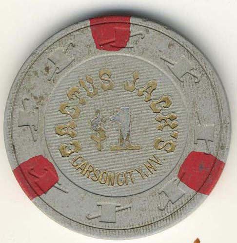 Cactus Jacks Casino $1 (gray 1980s) Chip