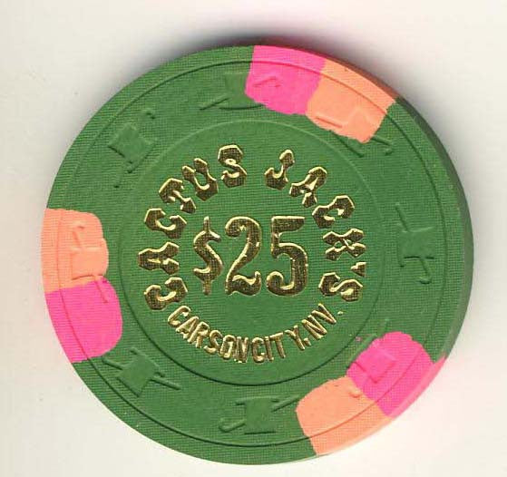 Cactus Jacks $25 (green 1980s) Chip - Spinettis Gaming - 1