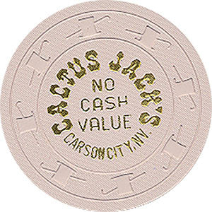 Cactus Jack's No Cash Value (White) Chip - Spinettis Gaming - 1
