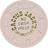 Cactus Jack's No Cash Value (White) Chip - Spinettis Gaming - 2