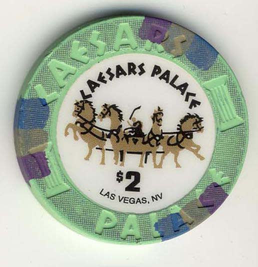 Caesars Palace $2 (green) chip
