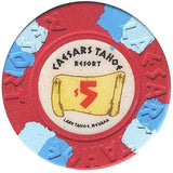 Caesars Tahoe $5 Chip - Spinettis Gaming - 1