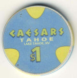 Caesars Tahoe $1 (blue 1995) chip - Spinettis Gaming - 1