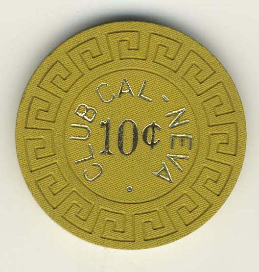 Club Cal-Neva 10 (mustard 1970s) Chip