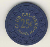 Club Cal-Neva 25 (navy 1970s) Chip - Spinettis Gaming - 2