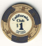 California Club $1 (beige 1960s) chip - Spinettis Gaming - 2
