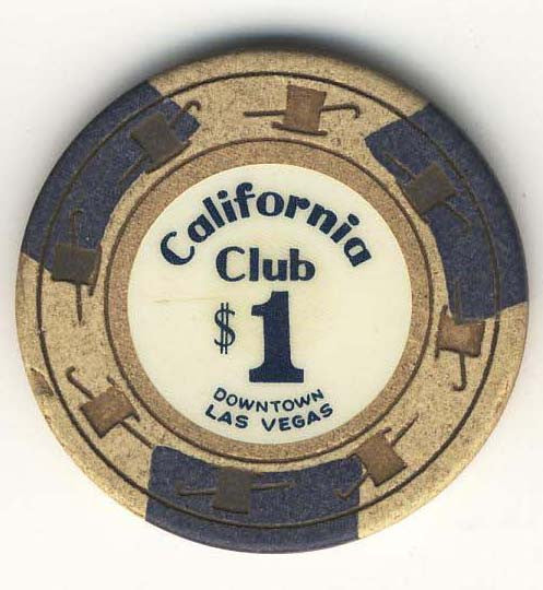 California Club $1 (beige 1960s) chip - Spinettis Gaming - 1