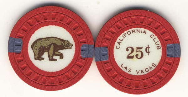 California Club 25 (red 1951) Chip - Spinettis Gaming - 1