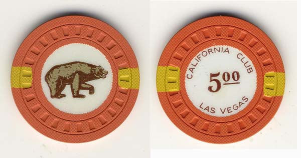 California Club $5 (orange 1951) Chip