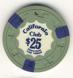 California Club $25 green (3-navy inserts 1960s) Chip - Spinettis Gaming - 1
