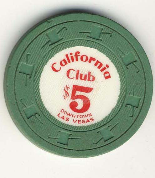 California Club $5 green Chip - Spinettis Gaming - 1