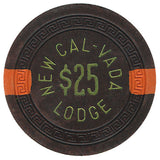 Cal Vada,New $25 (brown 1951) Chip - Spinettis Gaming - 2