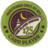 Card Player Cruises $25 Chip - Spinettis Gaming - 1
