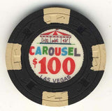 Carousel $100 (black 1965) Chip - Spinettis Gaming - 2