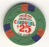 Carousel $25 (green 1967) Chip - Spinettis Gaming - 2