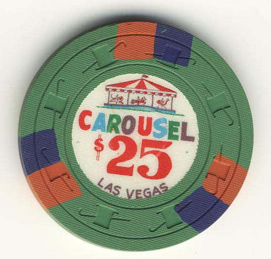 Carousel $25 (green 1967) Chip - Spinettis Gaming - 1