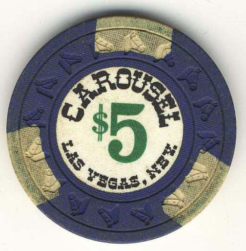 Carousel $5 (navy 1967) Chip - Spinettis Gaming - 1