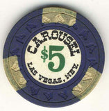 Carousel $5 (navy 1967) Chip - Spinettis Gaming - 2