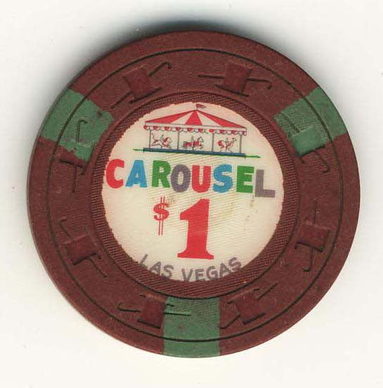 Carousel $1 (maroon 1965) Chip
