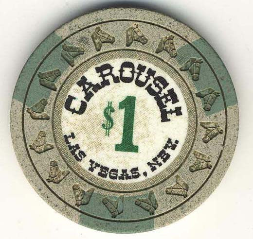 Carousel $1 (gray 1967) Chip