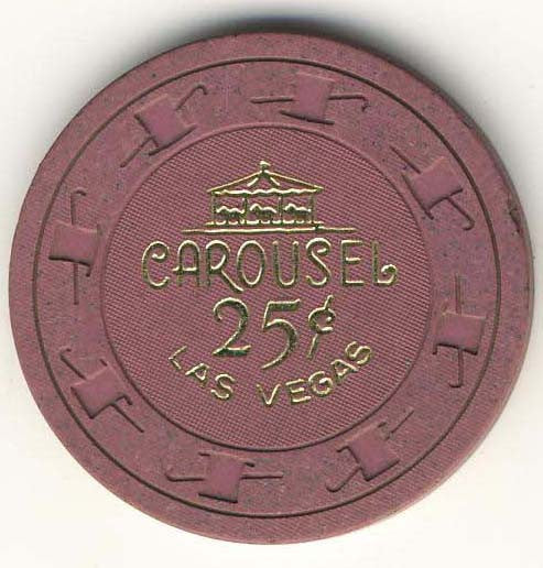 Carousel 25cent (purple 1965) Chip