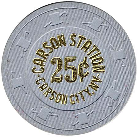 Carson Station Casino 25cent Chip - Spinettis Gaming